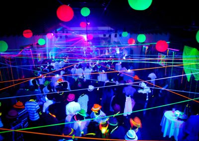 Neon Glow Blacklight Disco Party Night